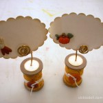 Wooden Spool Thanksgiving Place Card Holders