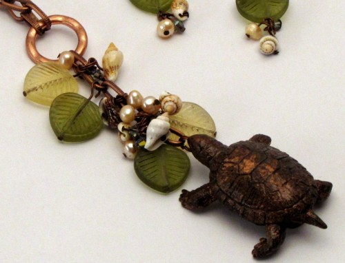 Experiments in Bead Making: A Turtle Necklace
