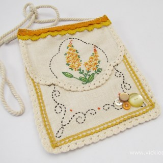 Vintage Needlework, A Small Bag and Flea Markets