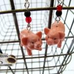 Ohio State Fair Pig Earrings