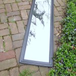 Upcycle a Full Length Mirror with Mini Mirrors and E-6000