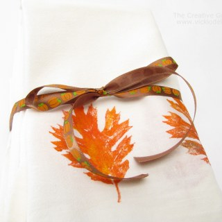 Thanksgiving Hostess Gift – Stamp & Paint Towels or Napkins