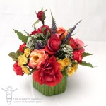 A Mini Lesson in Floral Design with a Silk Rose Flower Arrangement