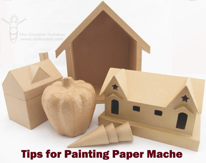 Tips for painting paper mache vicki odell for Acrylic painting on paper tips