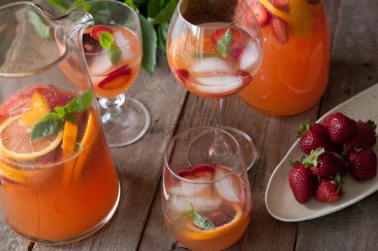 citrus and basil sangria