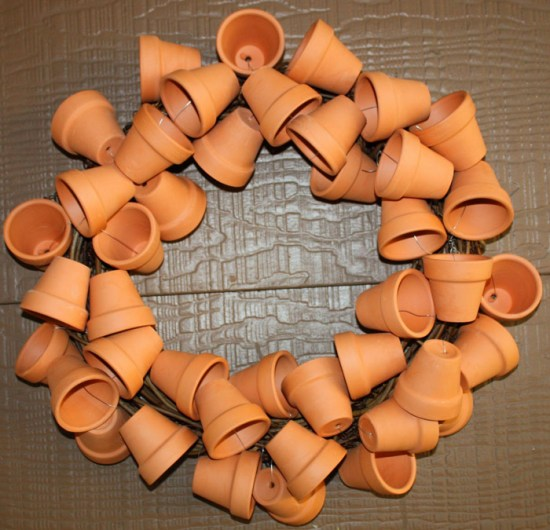 Clay Pot Crafts - Wreath