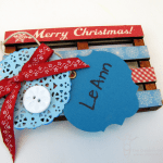 Mixed Media Mini Pallet Gift Tag