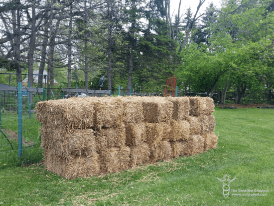 20 bales of straw waiting for the new straw bale garden