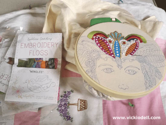 Embroidered Bohemian Woman Coloring Book Image