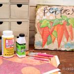 Garden Inspired Mixed Media Art – Pepper