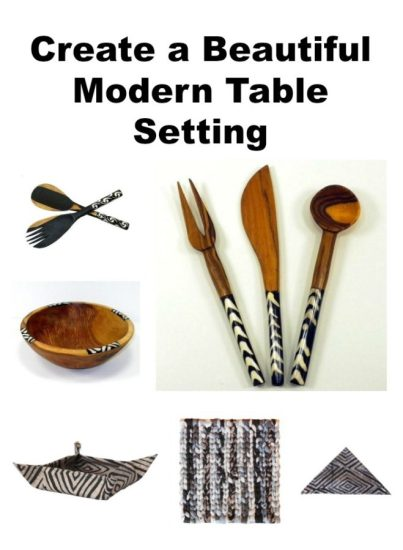 Create a Beautiful Modern Table Setting