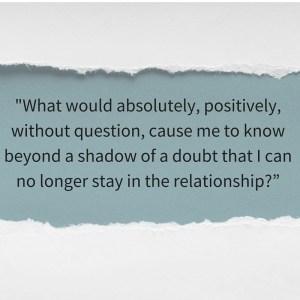 non-negotiable boundaries