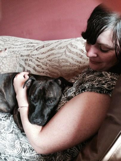 Tess giving me cuddles