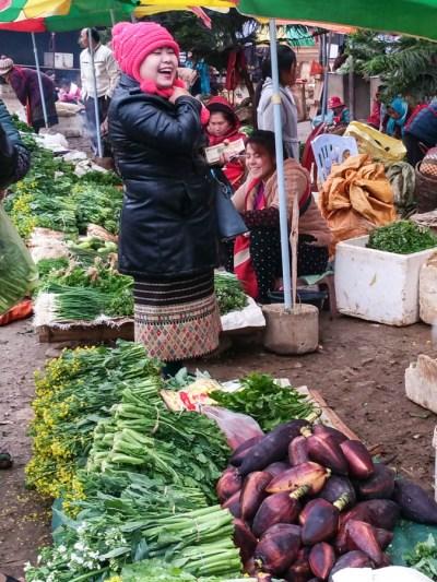 Local market Sam Neua