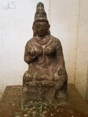 This sad sculpture epitomises it all, 9th century & covered in shit