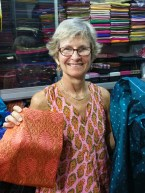 Buying silk in the Russian market