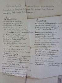 Originl poem written by HU while in Italy and sent to Krojanker