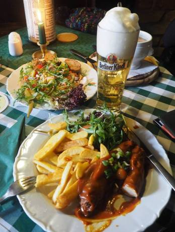 Currywurst and chips!
