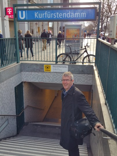 The entrance to the U-Bahn on the street where Hermann Ungar lived, outside his apartment in fact