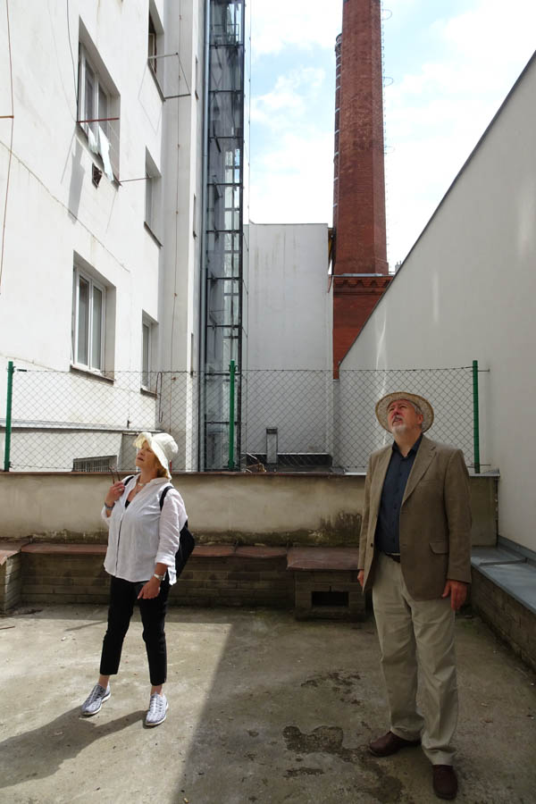 In what was the courtyard of our great grandfather's factory