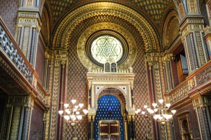 Glorious interior of the Spanish synagogue