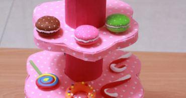 耗時一年才完成‧好看又好玩的DIY蛋糕塔