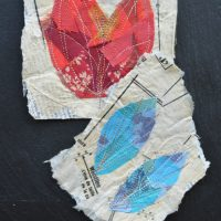Learn Something New - Machine Embroidery and Papier Mache