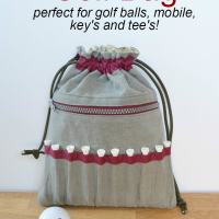 Sewing for a golfer - DIY golf gift