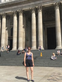 Me in front of the main entrance of St. Paul's Cathedral