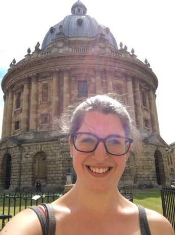 A little selfie in front of Radcliffe Camera