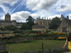 Christ Church College from inside the park