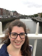 On the Liffey - Ha'Penny - Bridge. In the background is the Millennium Bridge.