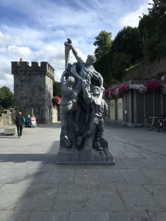 The Hurling Statue at Kilkenny Canal Walk