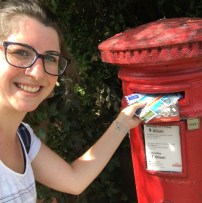 Posting the answer letter and two postcards