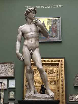 Michelangelo's David in the Weston Cast Court