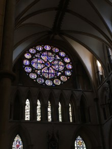 The rose window - a typical ornamentation of gothical churches