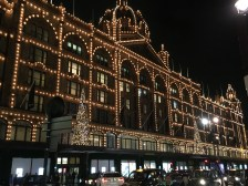 The famous outside facade of Harrods