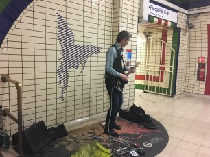 Music on the Underground at Piccadilly Circus Station