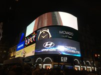 The big TV Screen on Piccadilly Circus