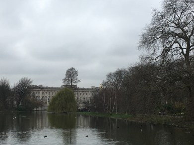 View from St James's Park on Buckingham Palace