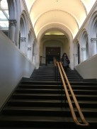 The staircases show a part of the interesting architecture of the gallery