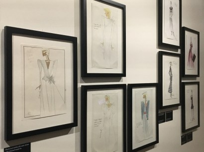 Some of the Designs hung on the wall inside the exhibition