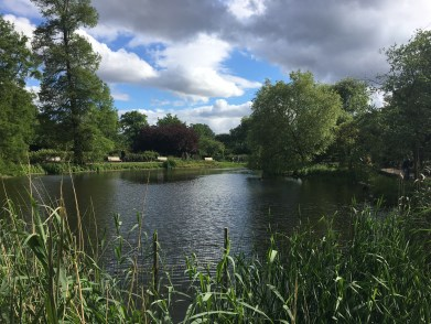The small pond in Queen Mary's Gardens