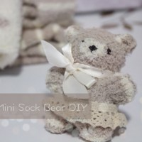 Daiso Mini Sock Bear DIY