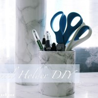 Marble Utensil Holder DIY