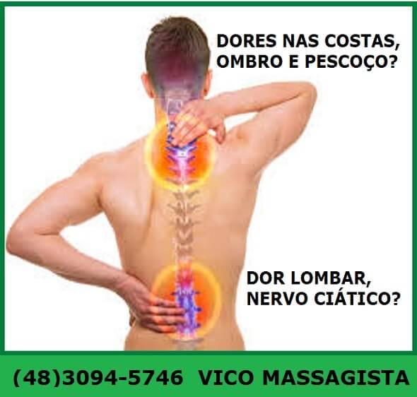 Quiropraxia para dores na coluna em São José SC