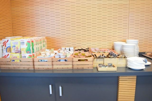 Frühstück in der  SALA VIP Lounge - Alicante Airport