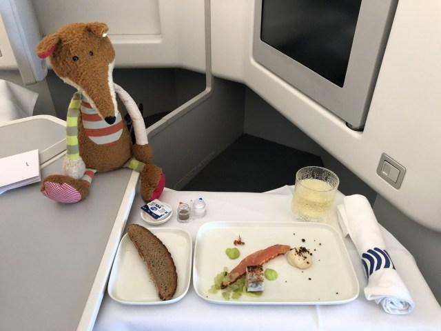 Phantastischer geräucherter Lachs in der Finnair Business Class