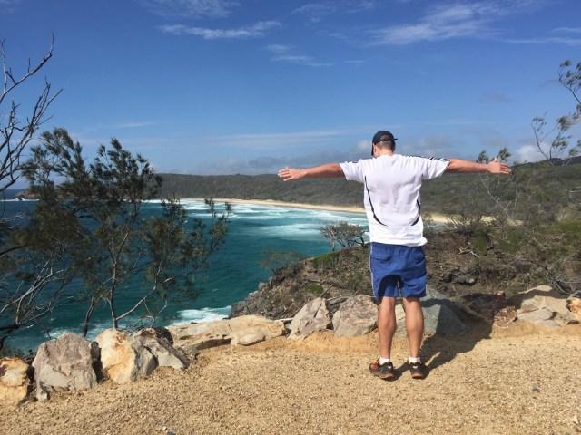 Joggen entlang Byron Bay, Australien
