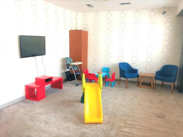 Kinderspielbereich in der Primeclass Lounge, Izmir Airport